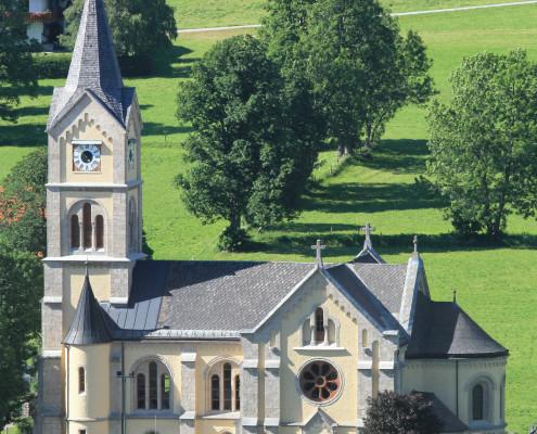 Ramsau am Dachstein, Österreich (Austria), 26.06.2012: Die evangelische Kirche.