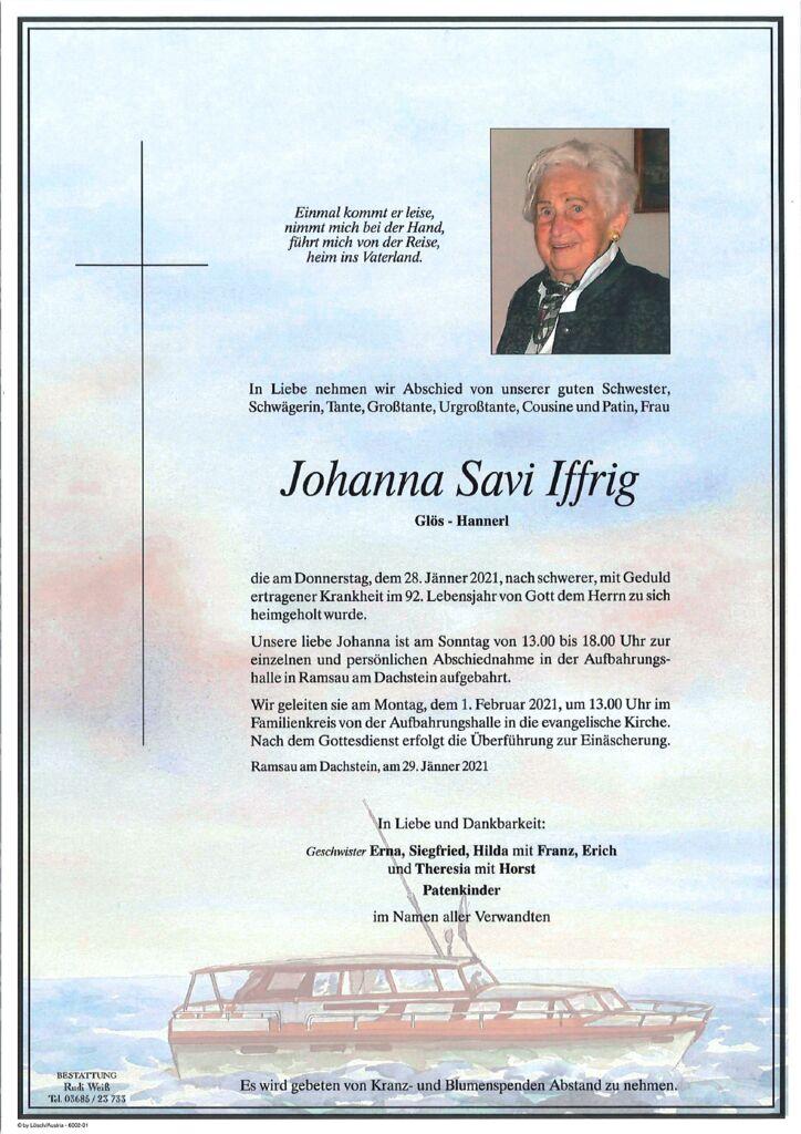 thumbnail of Parte Johanna Savi Iffrig